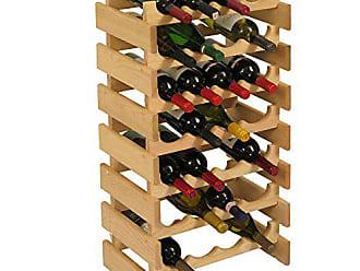 Wooden Mallet 28 Bottle Dakota Wine Rack, Unfinished