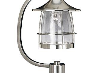 PROGRESS P5463-09 One-light post lantern in Brushed Nickel finish with clear seeded glass