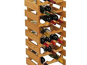 Wooden Mallet 21 Bottle Dakota Wine Rack, Light Oak