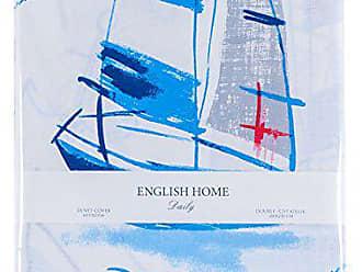 english home bettdecke bettwasche baumwolle blau 220 x 200 cm