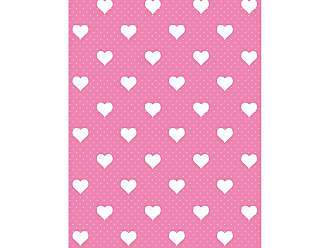 Brewster Home Fashions Home Pink Hearts Adhesive Film - Set of 2 - T346-0640