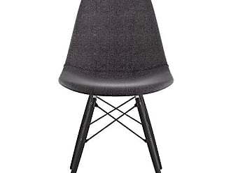 NyeKoncept 331008EW3 Mid Century Dowel Side Chair, Charcoal Gray