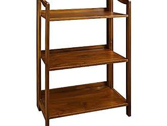 Yu Shan Casual Home 337-34 Stratford 3-Shelf Folding Bookcase-Warm Brown