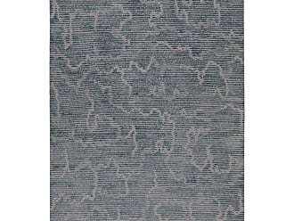Kelly Wearstler Staccato Steel Hand-knotted 9x6 Rug In Wool And Silk By Kelly Wearstler