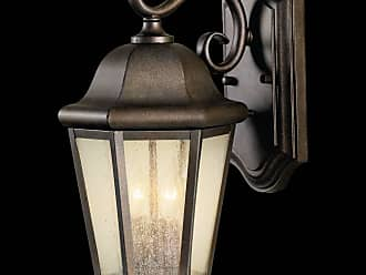 Feiss OL5901CB Martinsville Outdoor Lantern - Wall Mount in Corinthian Bronze finish with Clear Seeded Glass