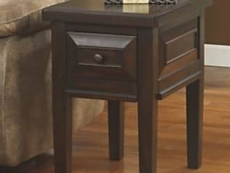 Ashley Furniture Hindell Park Chairside End Table, Rustic Brown