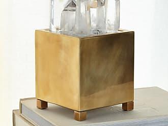 John-Richard Clear Quartz & Brass Box with Light