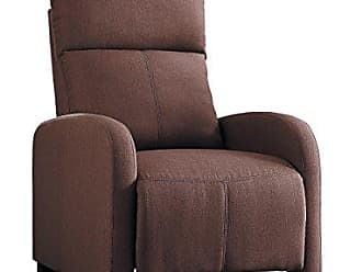 Homelegance Homelegance Antrim Modern Profile Fabric Push Back Reclining Chair, Brown