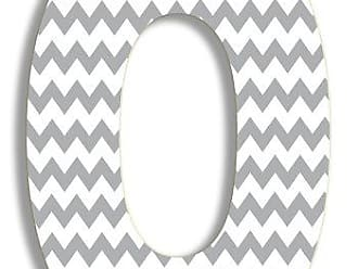 The Stupell Home Décor Collection The Stupell Home Decor Collection Gray Chevron Hanging Wall Initial, 18-Inch, O