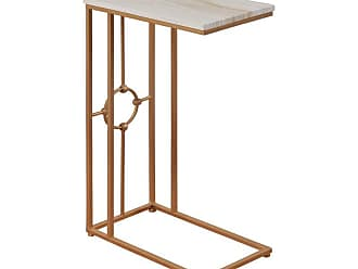 StyleCraft Gold Powder Coated C Table - SF24961DS