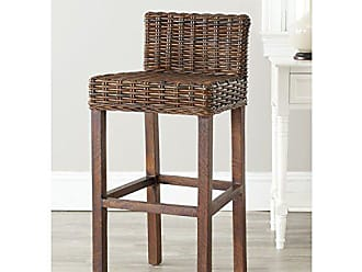 d70c1497653 Safavieh Home Collection Cypress Cappuccino Wicker 30-inch Bar Stool