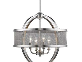 Golden Lighting 3167-4P PW-PW Colson 4 Light 17-1/2 Wide Chandelier
