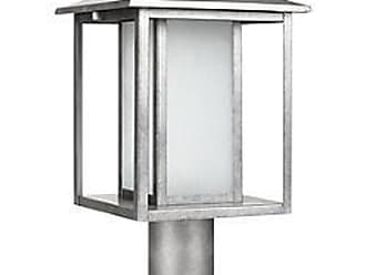 Sea Gull Lighting Hunnington Outdoor Post Light with Etched Seeded Glass