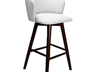 SOUTH CONE Dante 30 in. Upholstered Bar Stool with Swivel Espresso - DANTEBS30/WAL/ESPRESSO