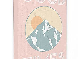 Stupell Industries The Stupell Home Décor Collection Good Times Mountain Pink Oversized Stretched Canvas Wall Art, 24 x 30