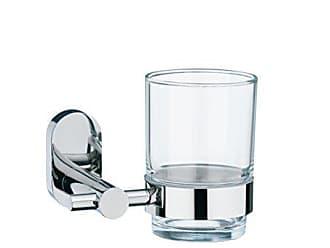 Kela 22678 Edelstahl 18//10// Glas 14x 11x 6 cm F/önhalter Zum Kleben oder Bohren Lucido /Ø  9cm Silber Gl/änzend