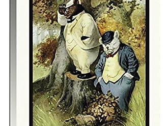 Bentley Global Arts Global Gallery Budget GCS-394572-1624-142 R.K. Culver RooseveltS Bears B and Teddy G are Lost Gallery Wrap Giclee on Canvas Wall Art Print