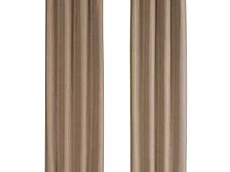 Monarch Specialties I 9838 Curtain Panel Blackout, Textured Finish 84 H Brown