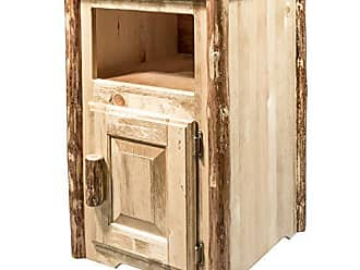 Montana Woodworks Glacier Country Collection End Table with Door, Right Hinged