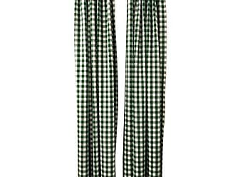 LA Linen Polyester Gingham Checkered Backdrop 58 by 96-Inch, Green/White, 2 Peice