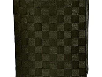 Oriental Furniture 27 Natural Fiber Laundry Hamper - Black