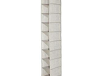 InterDesign Axis 10-Shelf Shoe Organizer - Chevron Hanging Closet Storage System, Taupe