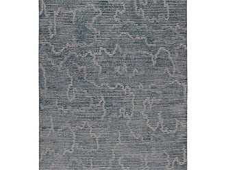 Kelly Wearstler Staccato Steel Hand-knotted 10x8 Rug In Wool And Silk By Kelly Wearstler