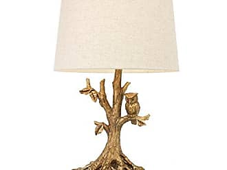 Decor Therapy Decor Therapy Textured Gold Leaf Owl Lamp