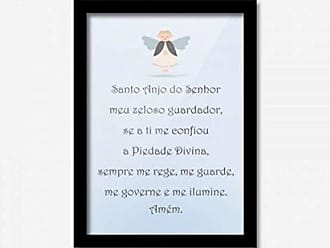 Los Quadros Quadro Decorativo Oração 45cmx33cm Los Quadros Preto