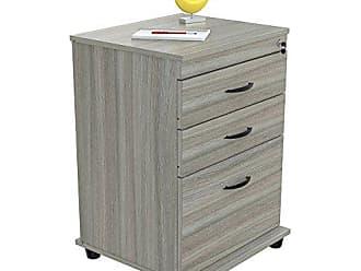 Inval America Inval AR-3X1RH Cabinets Mobile Files, Smoke Oak