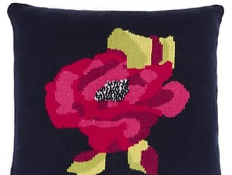 Allude Rose Intarsia Cashmere Cushion - Navy