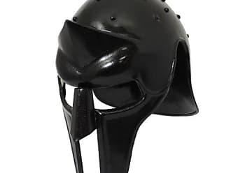 Urban Designs Imported Antique Replica Full-Size Metal Gladiator Armor Arena Helmet - Black