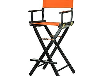 Yu Shan Casual Home 30 Directors Chair Black Frame-with Tangerine Canvas, Bar Height