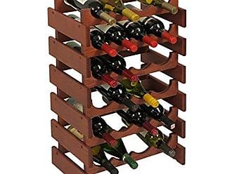 Wooden Mallet 24 Bottle Dakota Wine Rack, Mahogany