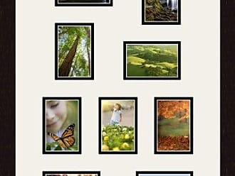Art to Frames Double-Multimat-236-61/89-FRBW26061 Collage Frame Photo Mat Double Mat with 1-3.55x5 and 8-3.5x5 Openings and Espresso Frame