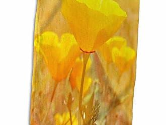 3D Rose 3D Rose Orange Surprise Poppies TWL_27963_1 Towel 15 x 22
