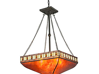 Z-Lite Z17-53P Crimson 3 Light Full Sized Pendant with Amber Mica and