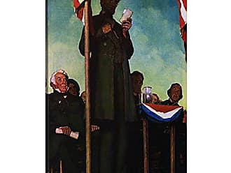 iCanvas ART 1-Piece Abraham Lincoln Delivering The Gettysburg Address Canvas Print by Norman Rockwell, 26 by 18/0.75 Deep