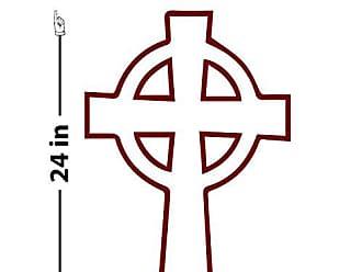 The Decal Guru Celtic Eternity Cross Wall Decal (Burgundy, 24 (H) X 16 (W))