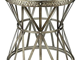 Coast to Coast Treasure Trove Accents Round Table, Hammered Nickel Finish