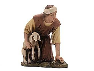 13 cm Multicoloured Moranduzzo Kneeling with Sheep