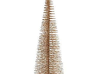 Zodax 20 Tall Treasure Mountain Christmas Tabletop Decoration, Gold (Set of 3) Trees