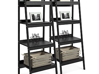 Best Choice Products Set of 2 4-Shelf Open Ladder Bookcase Display - Black