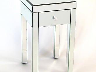 Wayborn Omega 1 Drawer Mirrored Nightstand - MC002