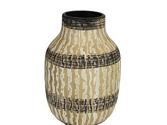 Black Ceramic 10 x 7 x 11 Inches Sagebrook Home 12386-01 Decorative Pitcher Beige