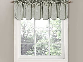 Ellery Homestyles Eclipse 42 x 21 Short Valance Small Window Curtains Bathroom, Living Room, and Kitchens, Gray