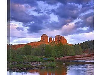 Bentley Global Arts Global Gallery Budget GCS-452150-2432-142 Tim Fitzharris Cathedral Reflected in Oak Creek at Red Rock Crossing Arizona Gallery Wrap Giclee on Canvas Print Wall Art
