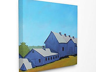 Stupell Industries The Stupell Home Decor Collection Colorful Luminous Painted Farm House Canvas Wall Art 24 x 24 Multicolor