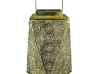 Benzara BM170683 Illuminating Designer Metal Lantern, Gold