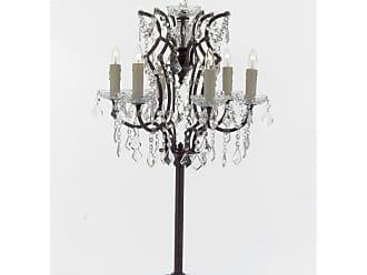 Harrison Lane T204-SP-104 6 Light 35 Tall Tree Table Lamp Black Lamps